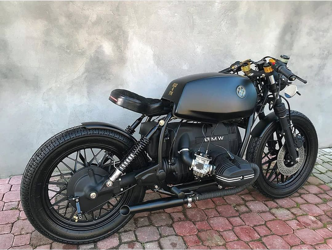Best Cafe Racer Motorcycles On Instagram Amazing Dark Bmw By