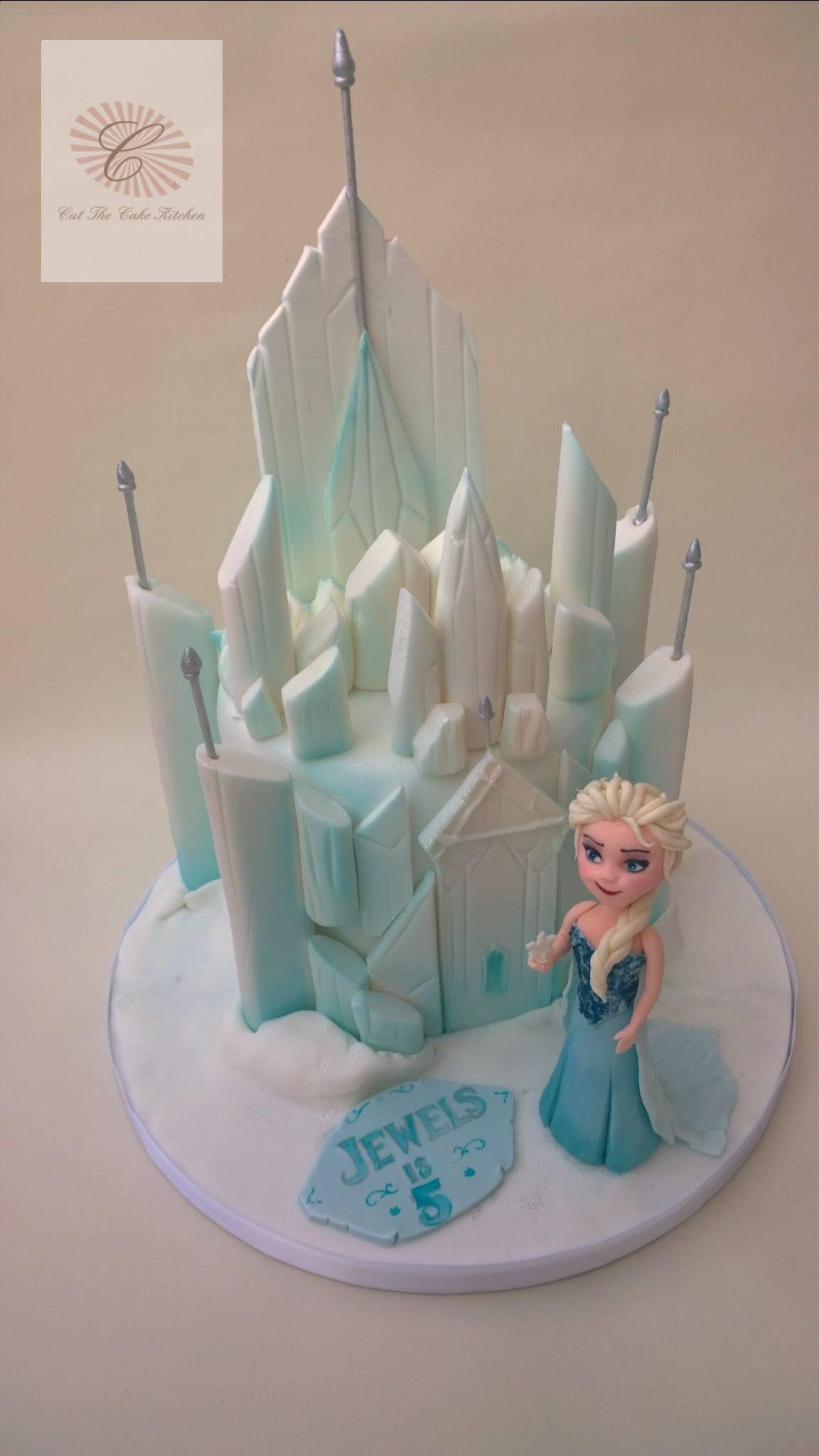 Frozen Birthday Cake Elsa Ice Palace wwwcutthecakekitchencouk