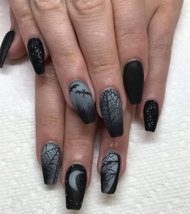 Day 286: Black Magic Nail Art - Day 286: Black Magic Nail Art In 2019 Halloween Nail Art
