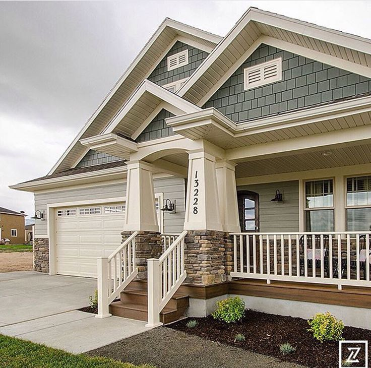24 Amazing Gray Green Exterior Paint Ideas | Craftsman ...