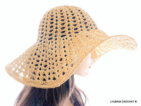 Crochet Hat PATTERN, Women\'s Hats DIY Crafts, Floppy Hat, Beach Hat ...
