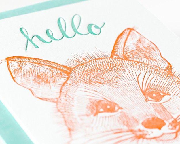 Sycamore Street Press - Hello Fox Greeting Card