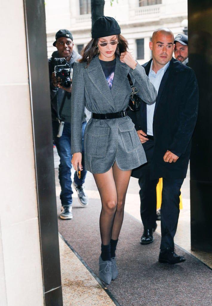 Bella Hadid Headed to a Show in a Fendi Blazer That She Wore as a Dress – Bella Hadid