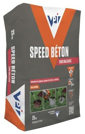 ciments et agrégats // speed béton 25kg - vpi   sélection
