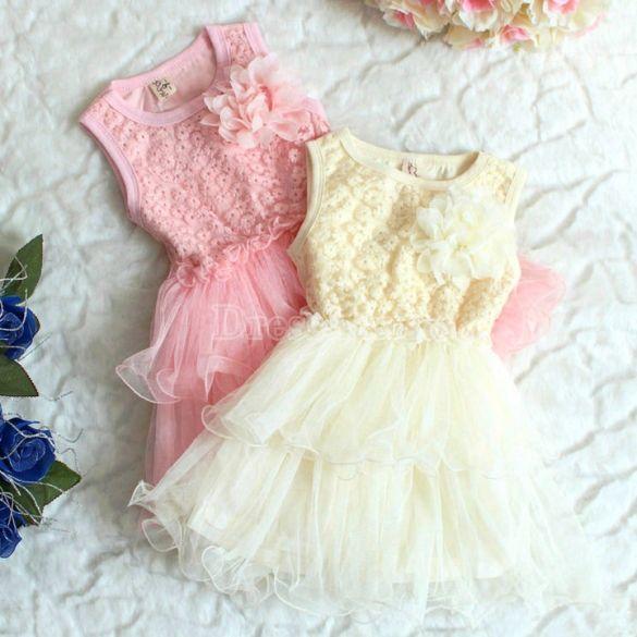 Partido Bebés y Niños princesa Girls encaje floral vestido rizado ...