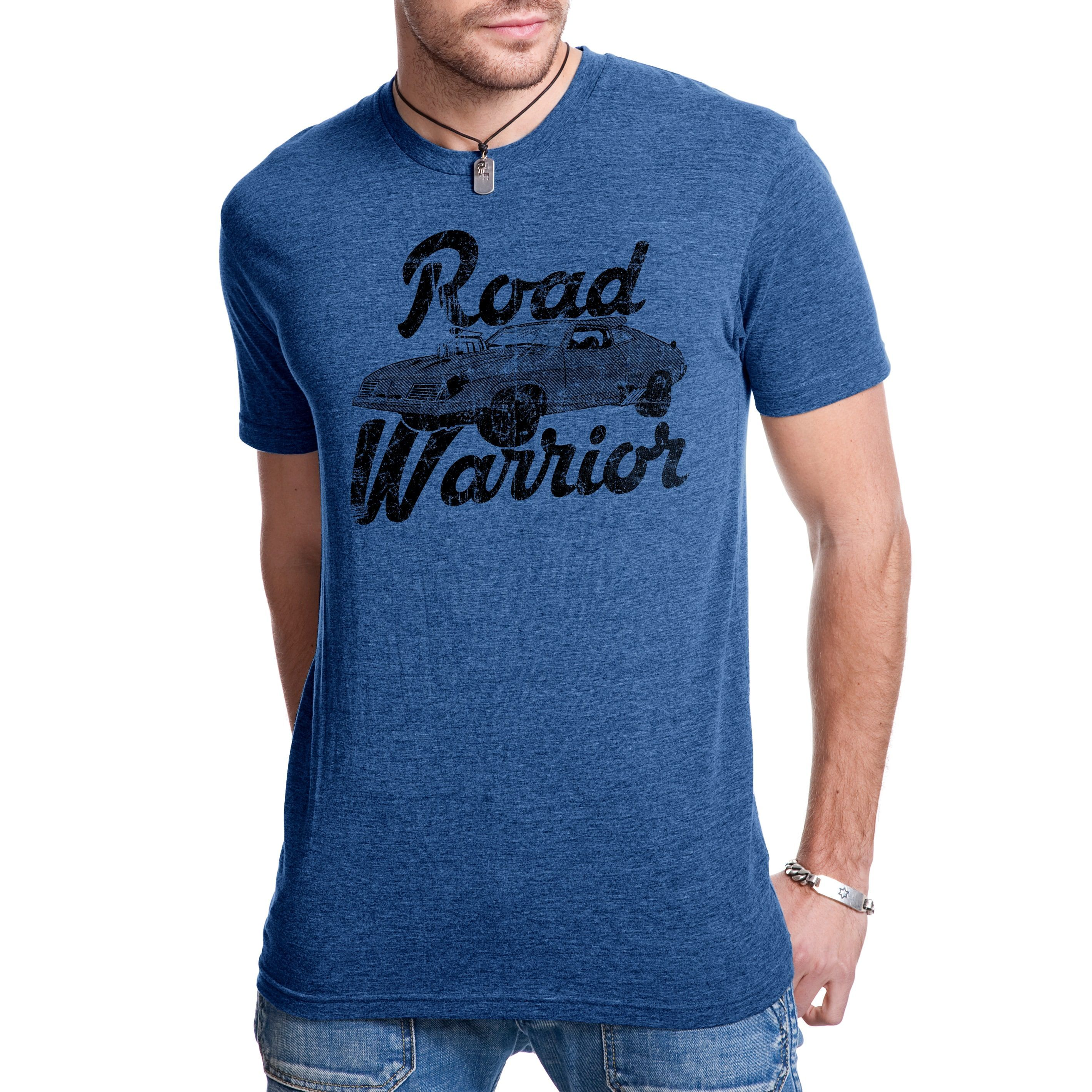Gangster flannel shirts  Road Warrior T Shirt Cool Vintage Movie Classic Car Racing Tee