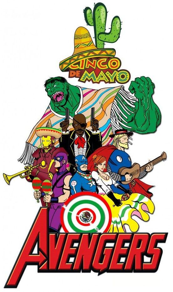 The Avengers Love Cinco De Mayo Dc Comics Vs Marvel 80 Cartoons Great Sci Fi Movies