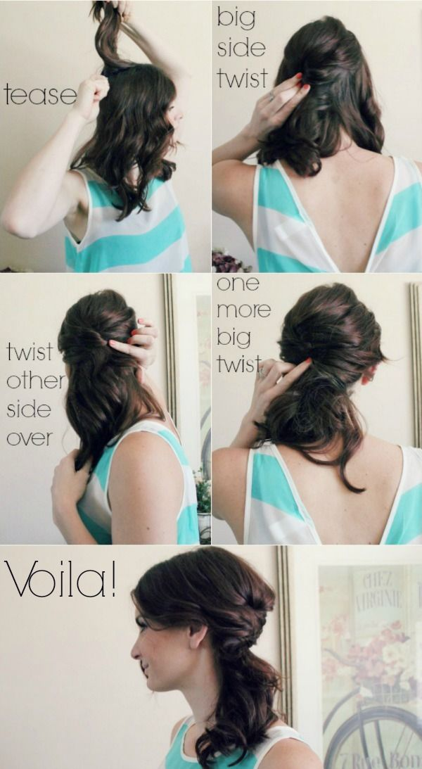 Easy 4 Step Side Ponytail Hair Styles Hair Tutorial Diy Hairstyles