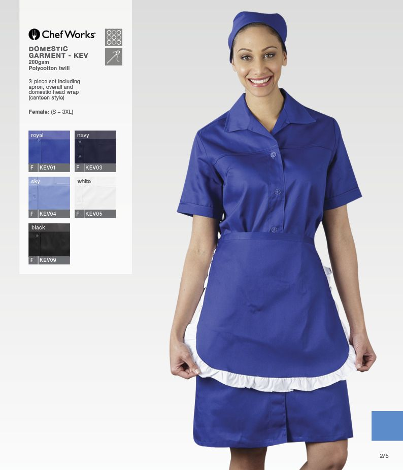Chefworks 3 piece cleaning set including apron overall for Spa uniform south africa