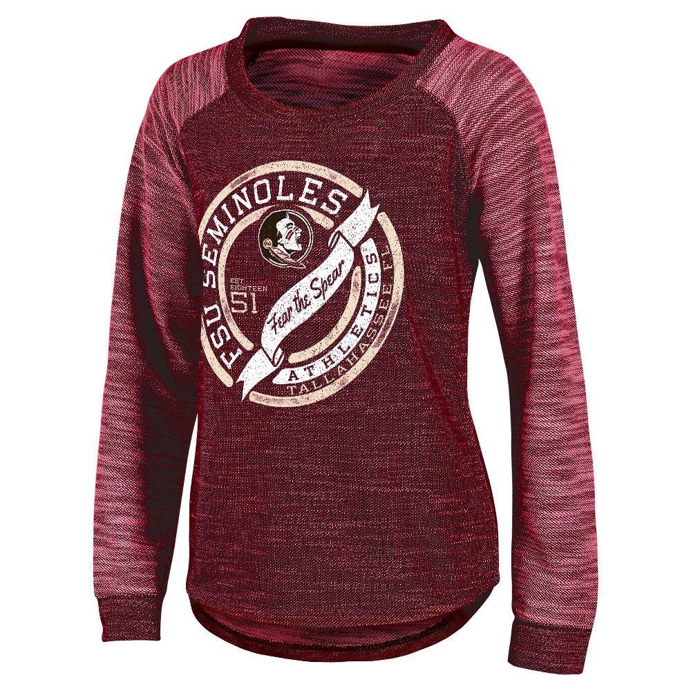 NCAA Florida State Seminoles Women's Raglan Long-Sleeve Shirt - XL, Multicolored