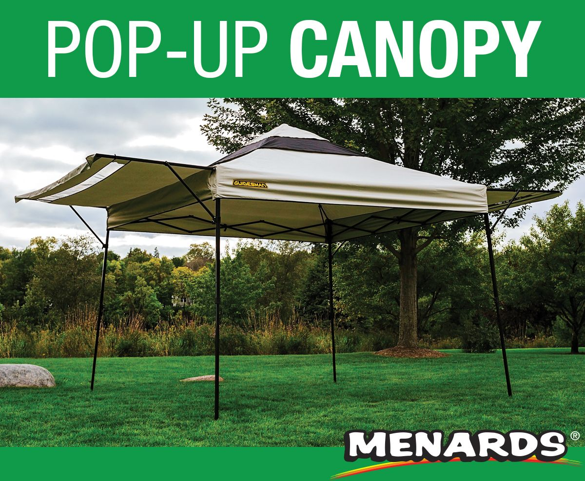 This Guidesman 10 Foot By 10 Foot Pop Up Canopy Features Two Adjustable Awnings That Provide An Additional 70 Sq Ft Of Sh Gazebo Hot Tub Gazebo Large Gazebo