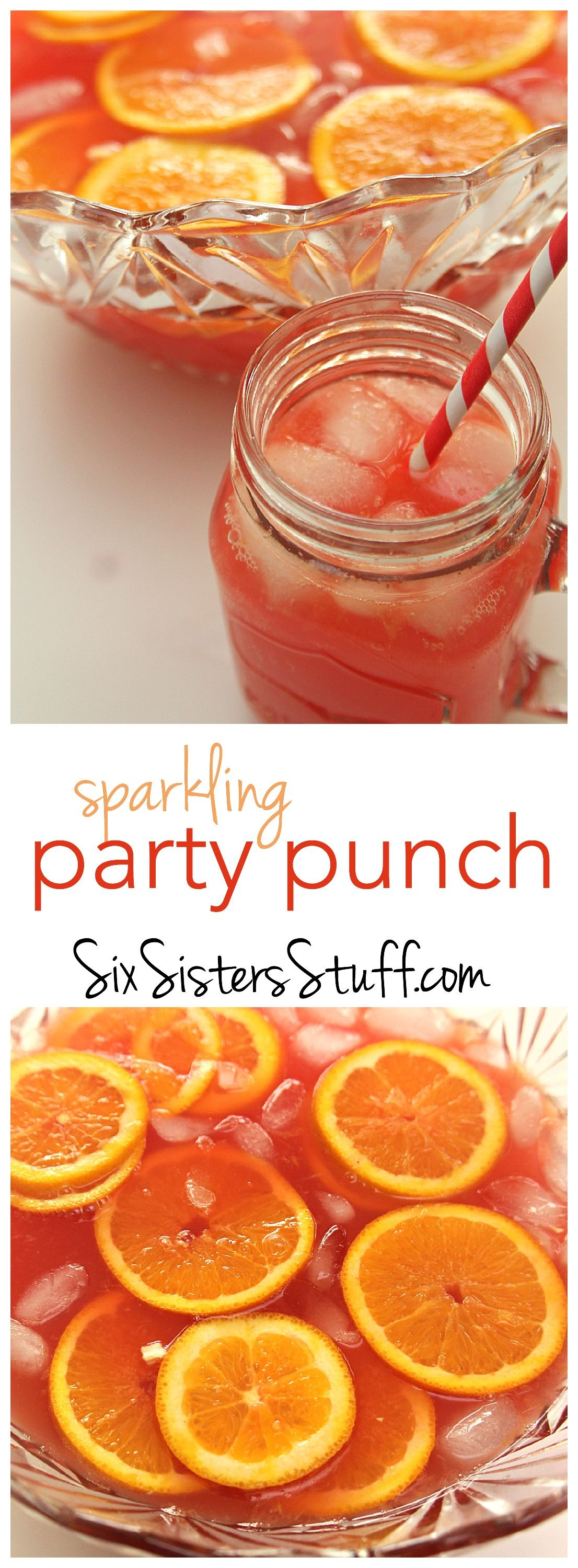 Sparkling Red Party Punch Recipe