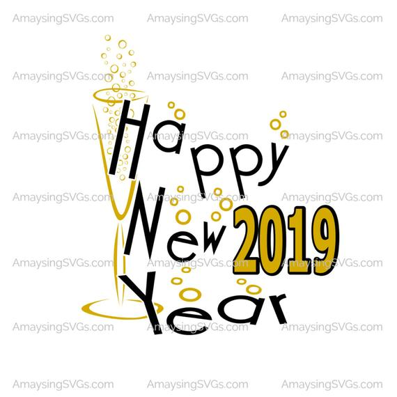 Happy New Year 2019 Svg New Year Svg Champagne Bubbles Svg Etsy In 2020 Happy New Year 2019 Happy New Year 2018 Happy New