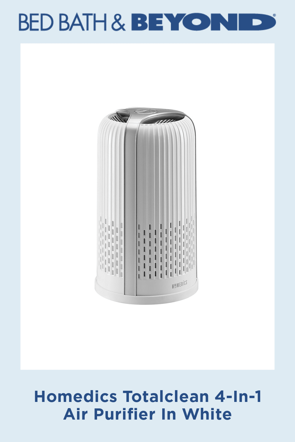 Homedics Totalclean 4-In-1 Air Purifier In White