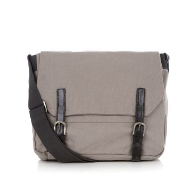 ... exciting new grey colourway with black leather trims and orange lining  and logo patch. br  br  This artist s satchel bag has been created  specially for ... dc9c4efbc777f