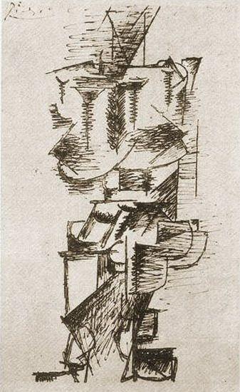 """Pablo Picasso - """"Femme debout"""". 1911"""