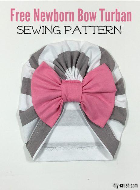 Baby Bow Turban Beanie Pattern   baby sewing   Pinterest   Nähen ...