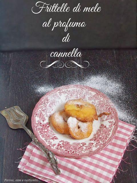 farina asse mattarello: Frittelle di mele al profumo di cannella