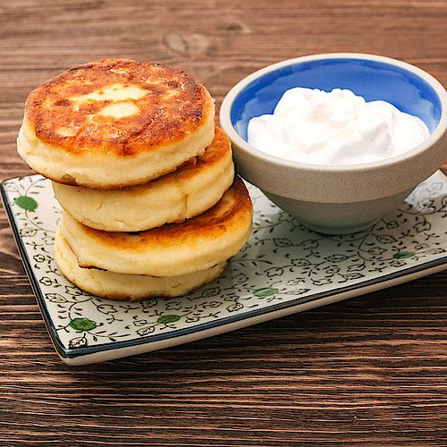 Photo of Low carb vanilla pancakes with curd cheese – sweet pancake recipe