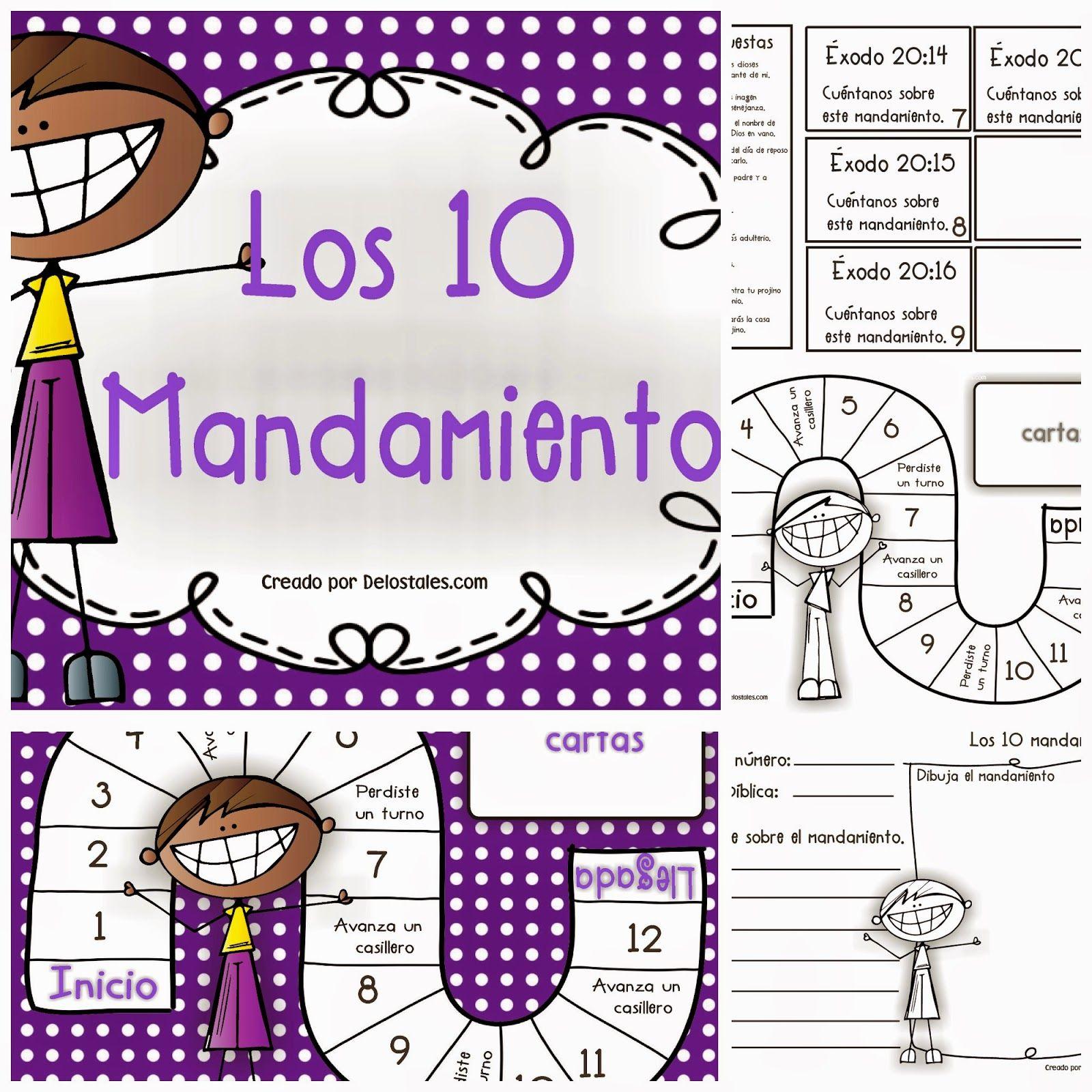 Los 10 mandamientos | escuela dominical | Pinterest | Escuela ...