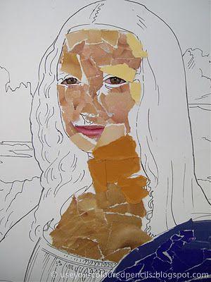 DE VINCI Mona Lisa Collages