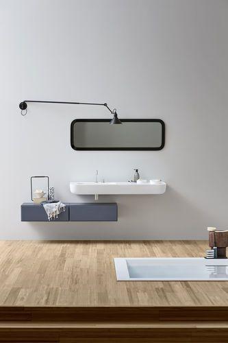Lavabo de pared / de Corian® / moderno / con encimera Esperanto Rexa Design