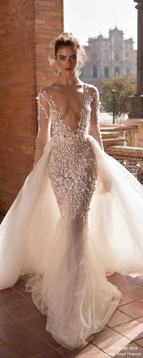Berta fall long sleeves wedding dresses wedding weddingdress