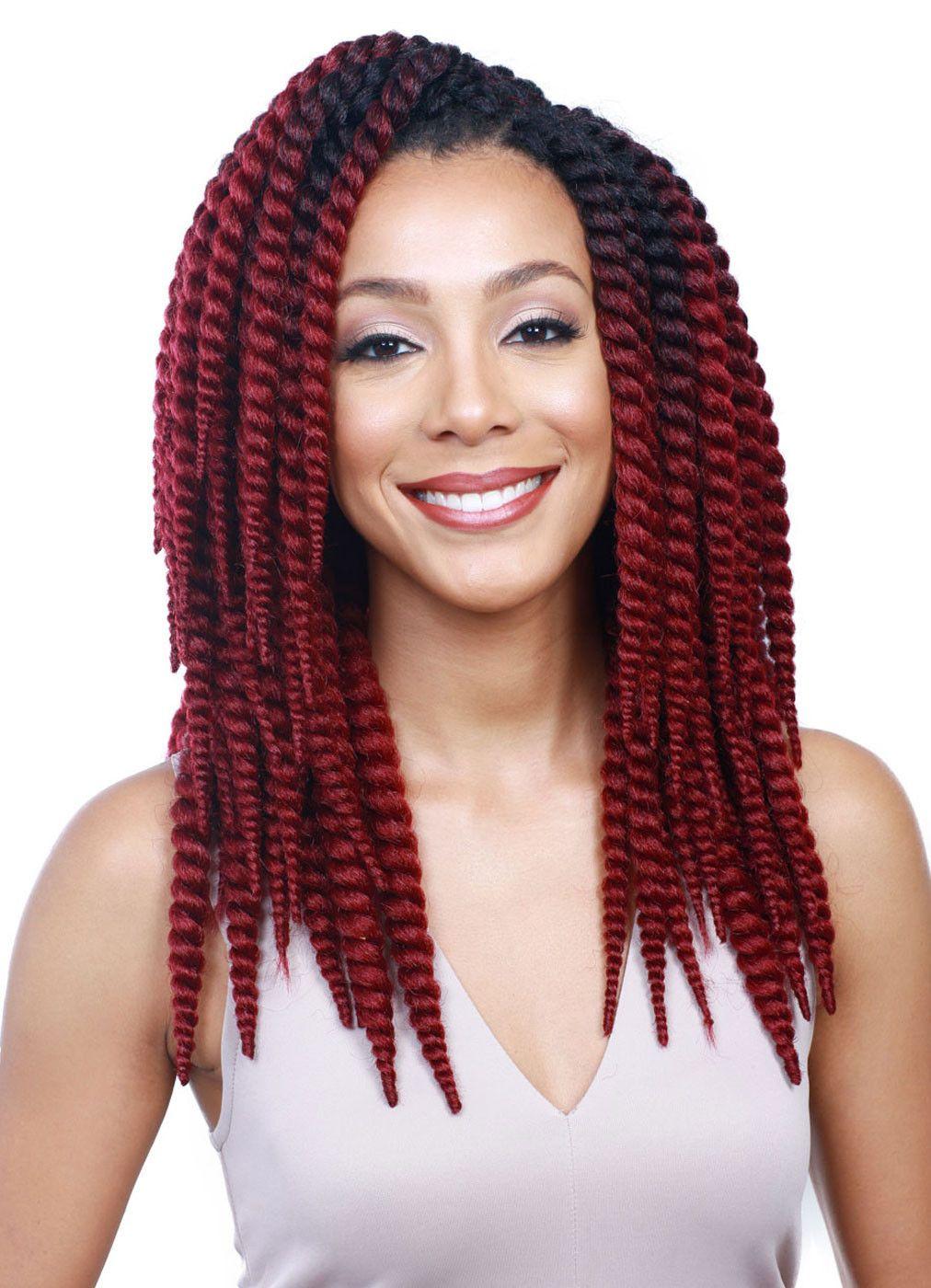 Senegal Pre Styled Crochet Braid Short Length But Bold Style Bobbi Boss A Skinny Twist 12 Is Made With Kanekalon Fiber 100 Hand