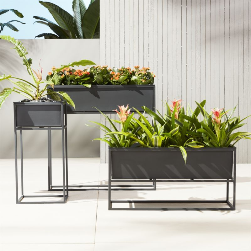Indoor Planter Box Ideas: Kronos Outdoor Raised Planters