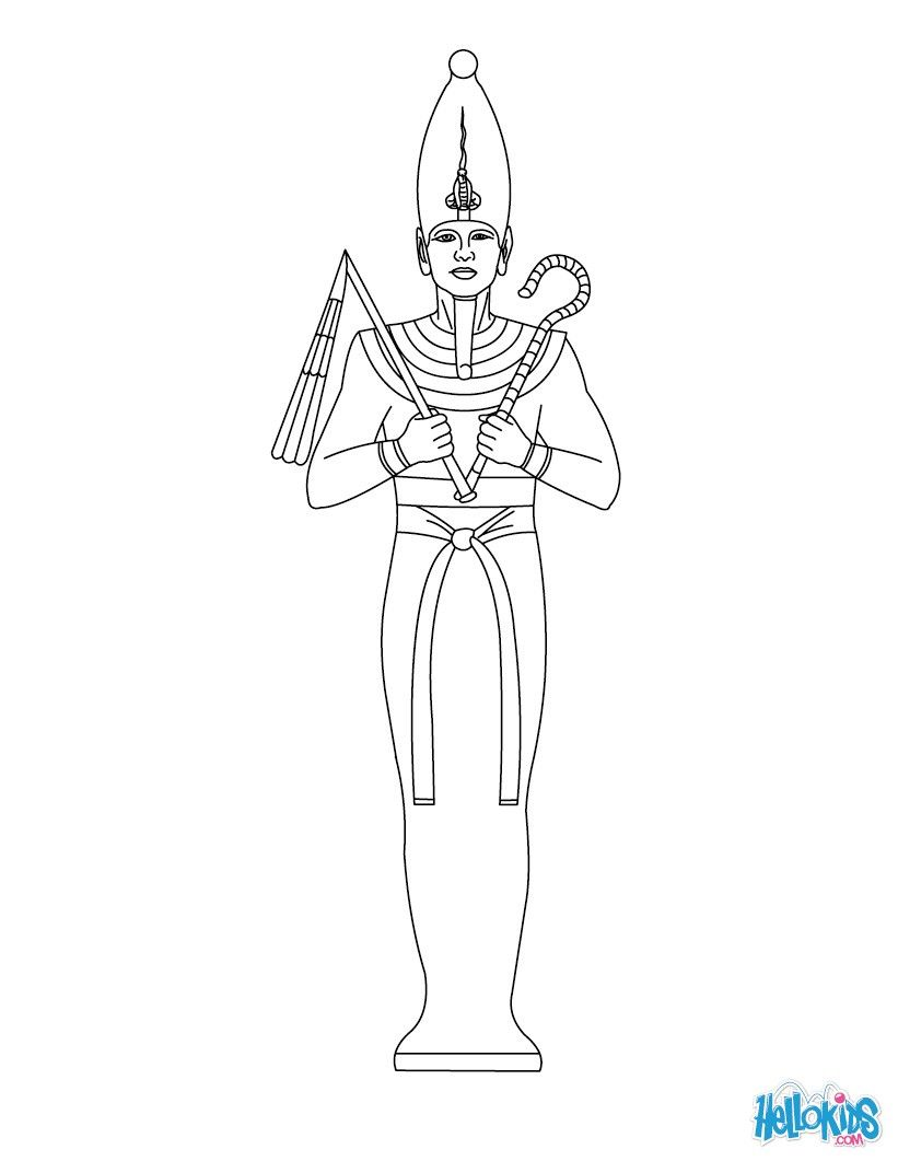 OSIRIS for kids coloring page | VBS Egypt | Pinterest | Puppet and Craft