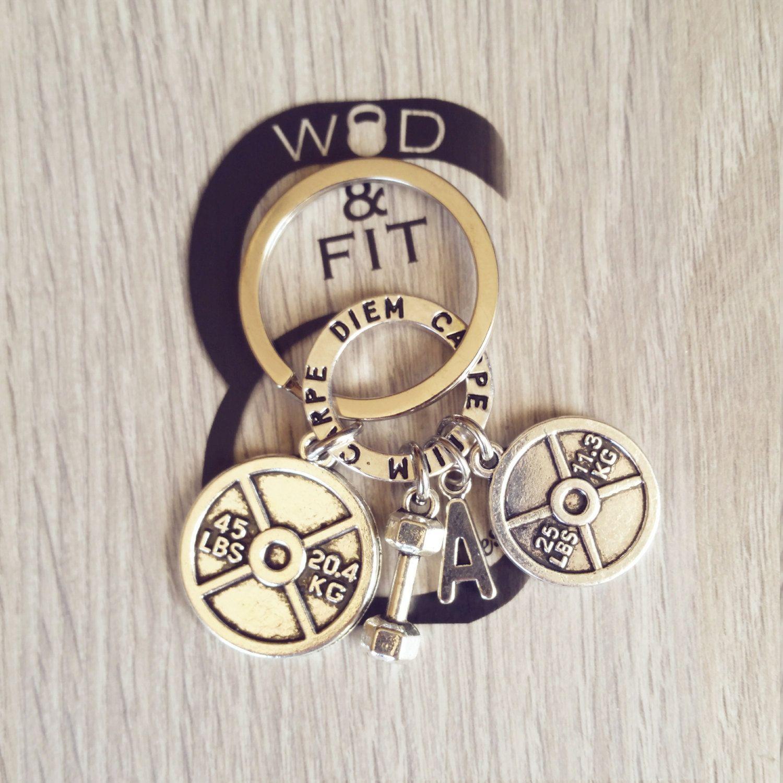 Llavero Discos Pesas Daniel Workout Motivación Ring y Iniciál.Kettlebell,Gym,Bodybuilding,Fitness,Regalo Deporte Coach Halterofilia Cross de WodAndFit en Etsy