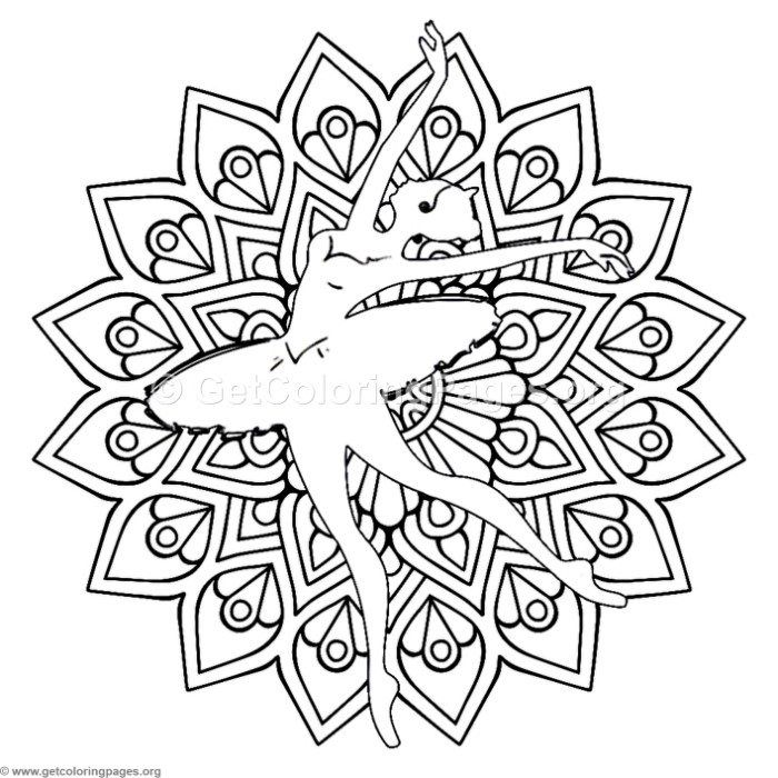 free instant download ballet dancer mandala coloring pages coloring coloringbook. Black Bedroom Furniture Sets. Home Design Ideas