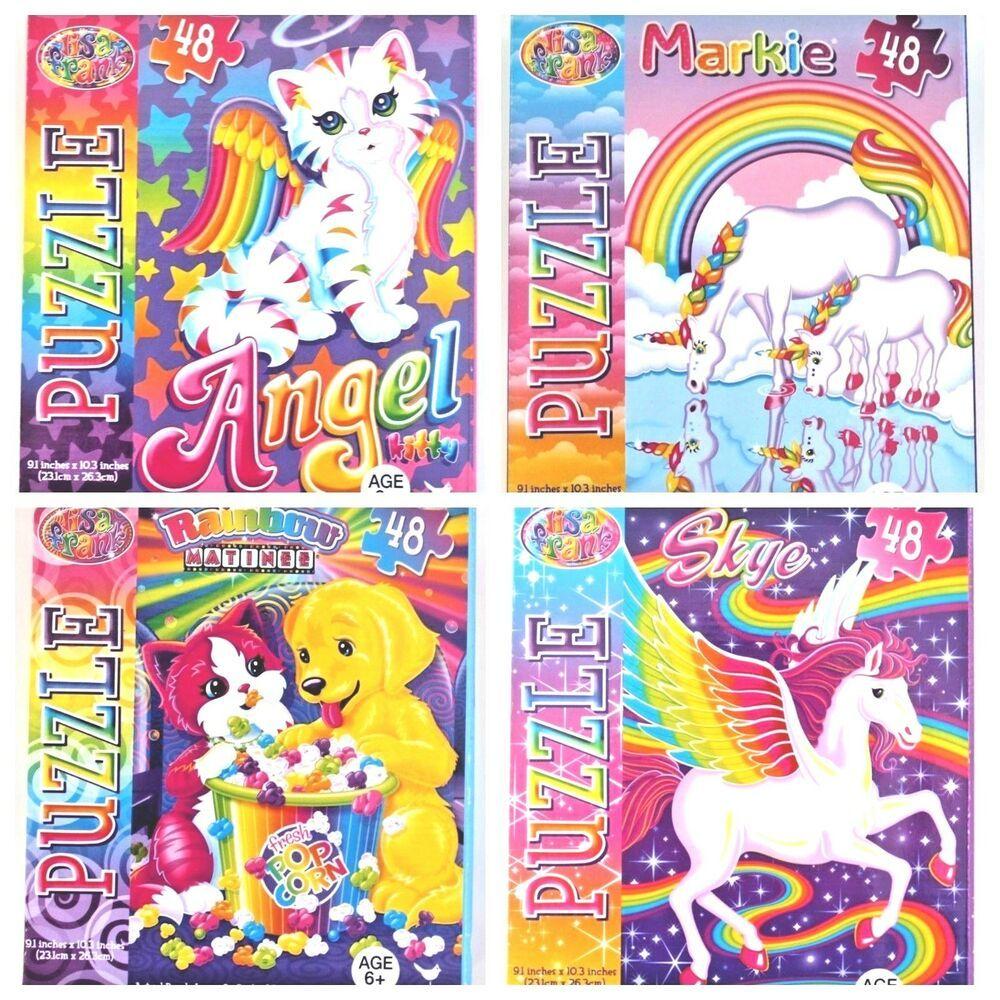 Lisa Frank Jigsaw Puzzles Unicorn Kittens Puppy Markie Skye Angel Lot of 4