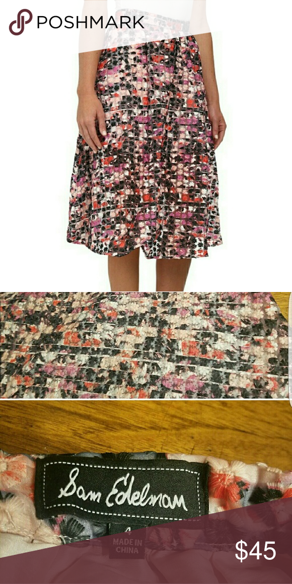Sam Edelman Skirt Size 4 Sam Edelman Skirt. Pink & purple floral pattern. EUC. No flaws. Sam Edelman Skirts