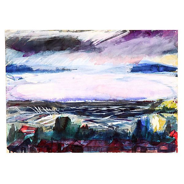 Pre Owned Black Sea C 1960 245 Liked On Polyvore Featuring Home Decor Wall Art Multi Unframed Landscape Ocean