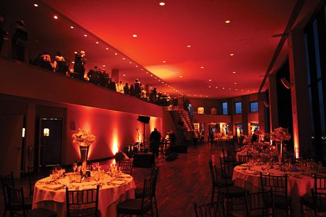 Red Lighting Sets The Mood At State Room In Boston For This Elegant Wedding Reception