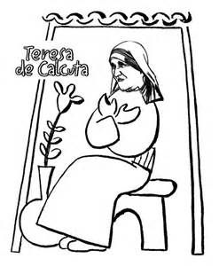 blessed mother teresa coloring pages sketch template