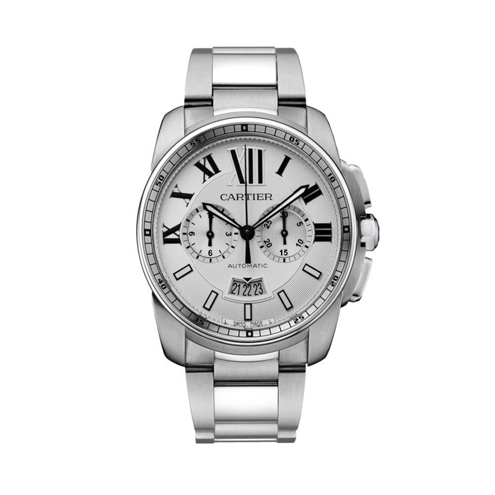 For Father's Day! Cartier Men's Calibre De Cartier Chronograph W7100045 Watch #cartier #menswatch #gift #ForDad #laingsofglasgow