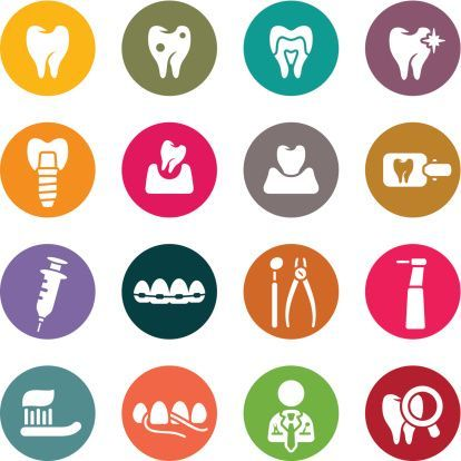 Dental Theme Icon Set Pictos Dentiste Dental Dental Clinic Logo Dental Art