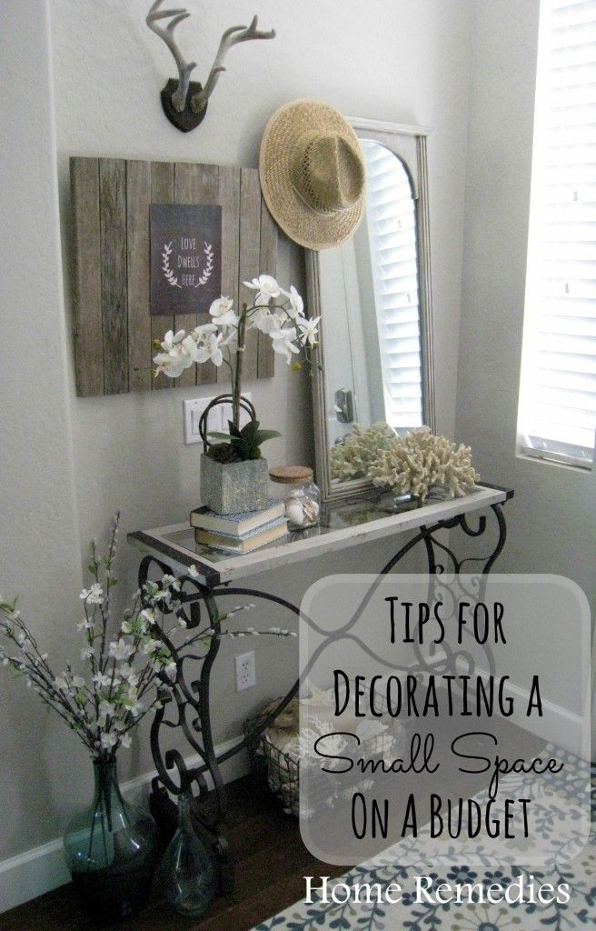 Decorating a small space on a budget | Small spaces, Budgeting and ...