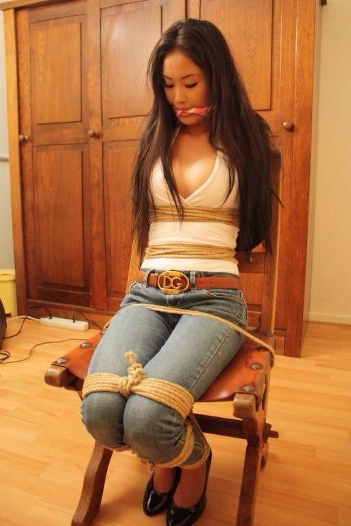 Bondage in tight jeans