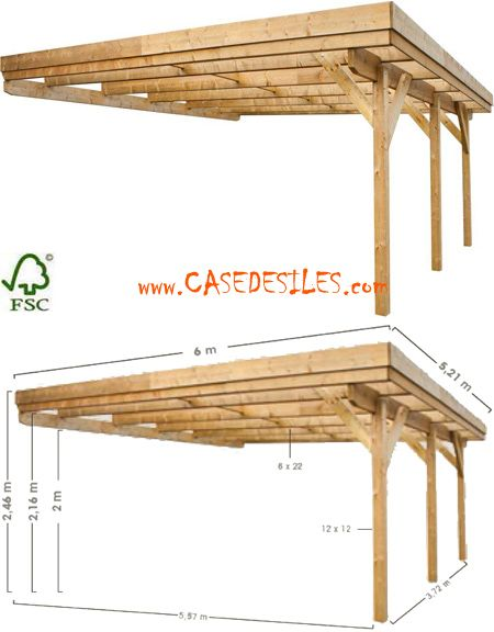 carport bois pergolas wood working and car ports. Black Bedroom Furniture Sets. Home Design Ideas