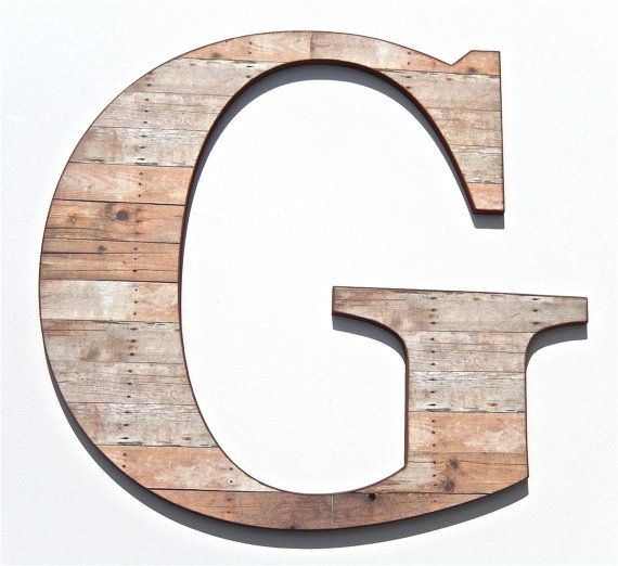 Rustic Wooden Letter G Wood Grain Print by compulsivecollection
