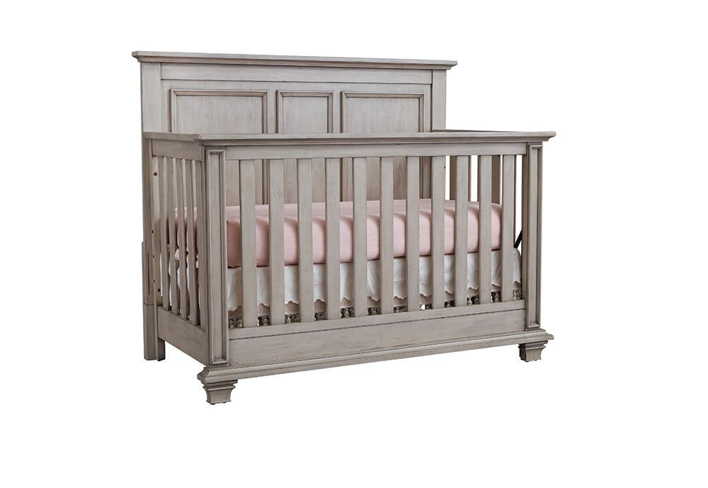 Oxford Baby Kenilworth Collection 4 In 1 Convertible Crib In Stone Wash Convertible Crib Baby Nursery Furniture Baby Girl Nursery Room