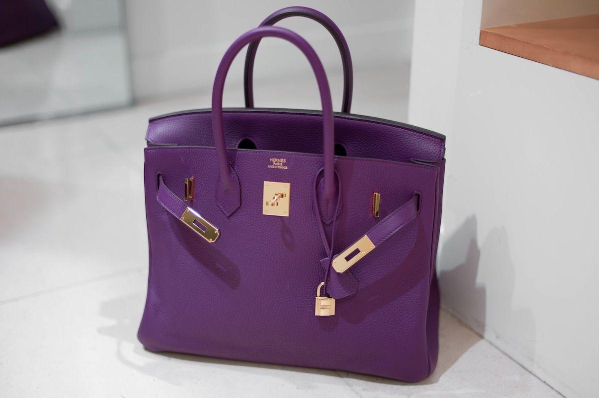 Hermes Birkin Violet
