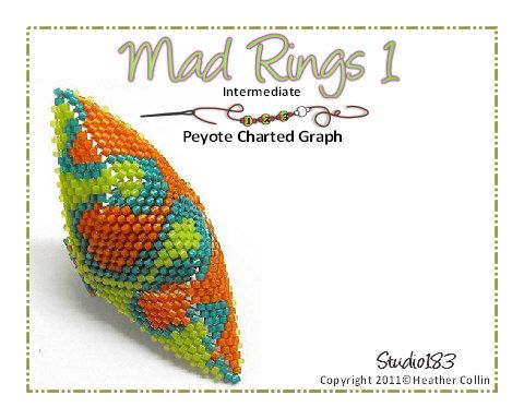 Ethnic Tribal Rings Charted Graph Pattern Mad Ring 1 By