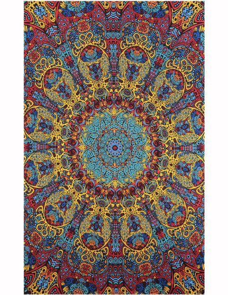 Sunshine Joy 3D Psychedelic Sunburst Tapestry Tablecloth Beach Sheet 60x90…