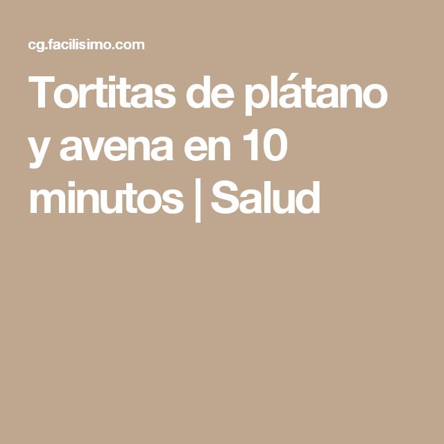 Tortitas de plátano y avena en 10 minutos   Salud