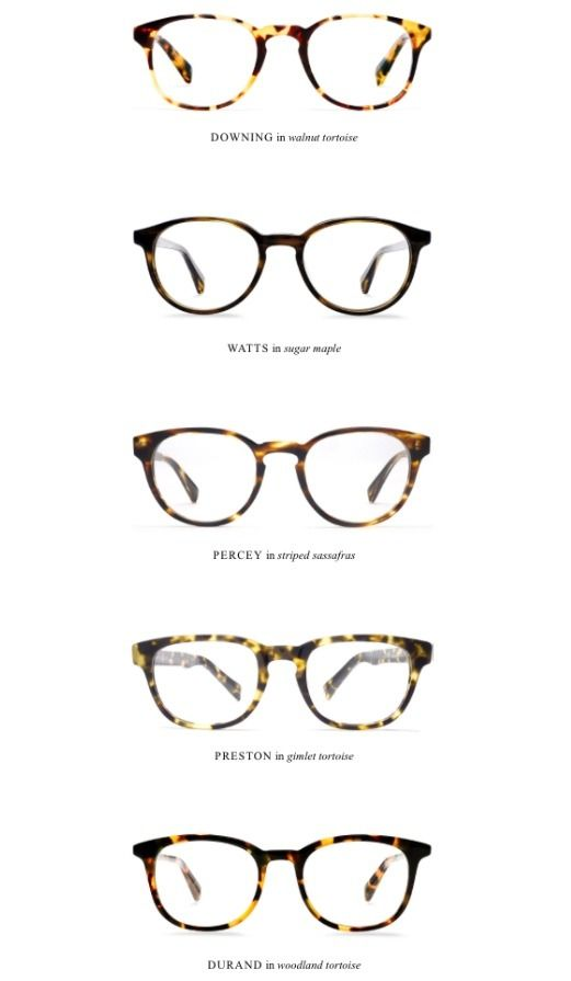 Warby Parker glasses // (I need a new pair of glasses oh so badly ...