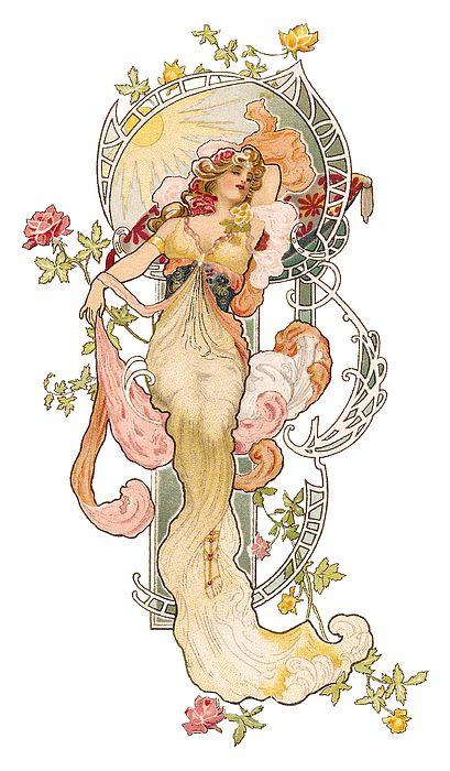 Art Nouveau Lady by Neil Baylis